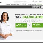 h&r block tax calculator ux design