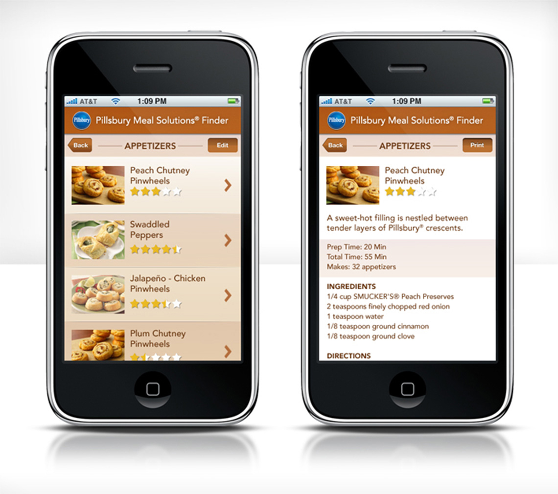 Pillsbury Meal Solutions App